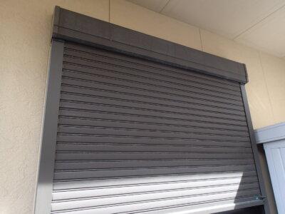 シャッター塗装範囲 アルミ素材 外壁塗装の事なら浜松塗装専門店 加藤塗装