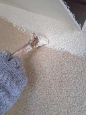 浜松市中区領家 施工事例 外壁塗装の事なら浜松塗装専門店|加藤塗装 エスケー化研 セラミタウンマイルド 軒天 シーラー フィラー プライマー 中塗りと上塗りは同じ塗料