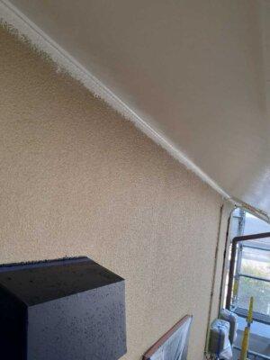 浜松市中区領家 施工事例 外壁塗装の事なら浜松塗装専門店|加藤塗装 エスケー化研 セラミタウンマイルド 軒天