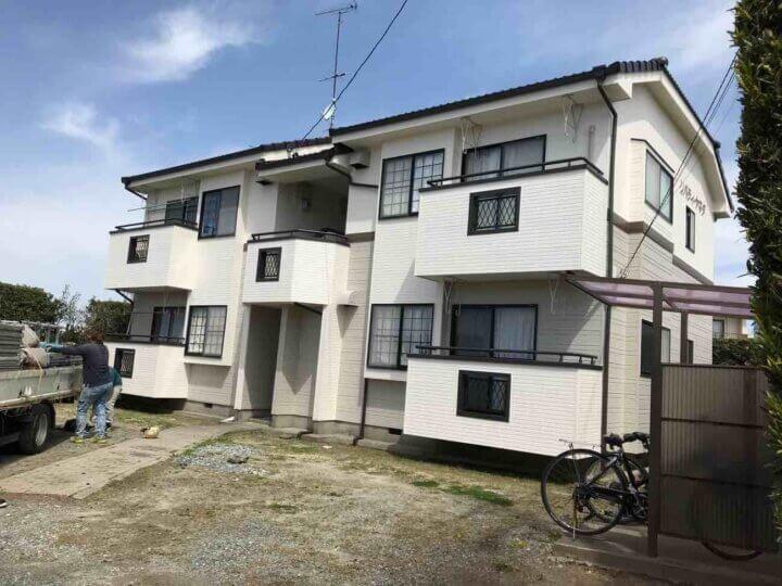 磐田市千手堂アパート 屋根・外壁塗装工事が完成しました。外壁塗装の事なら浜松塗装専門店|加藤塗装