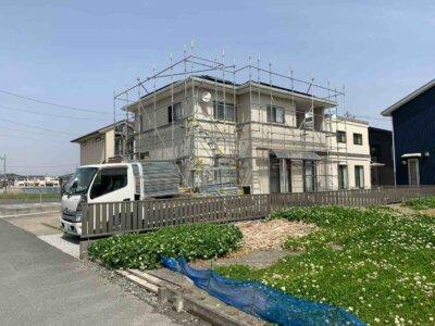 浜松市南区新橋町 施工事例 足場架設 外壁塗装の事なら浜松塗装専門店|加藤塗装 期間 どのくらい 金額 塗料