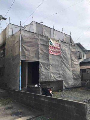 湖西市白須賀 施工事例 外壁塗装の事なら浜松塗装専門店 加藤塗装