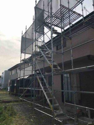 湖西市白須賀 施工事例 外壁塗装の事なら浜松塗装専門店 加藤塗装 足場架設