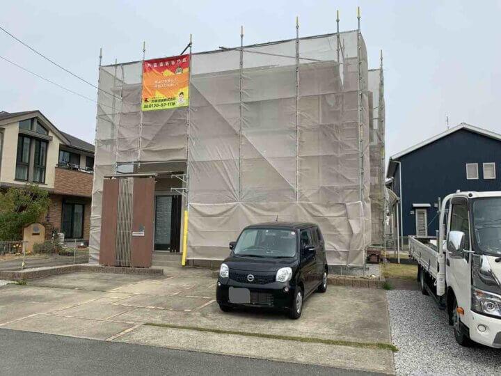 浜松市南区新橋町 施工事例 足場架設 外壁塗装の事なら浜松塗装専門店|加藤塗装