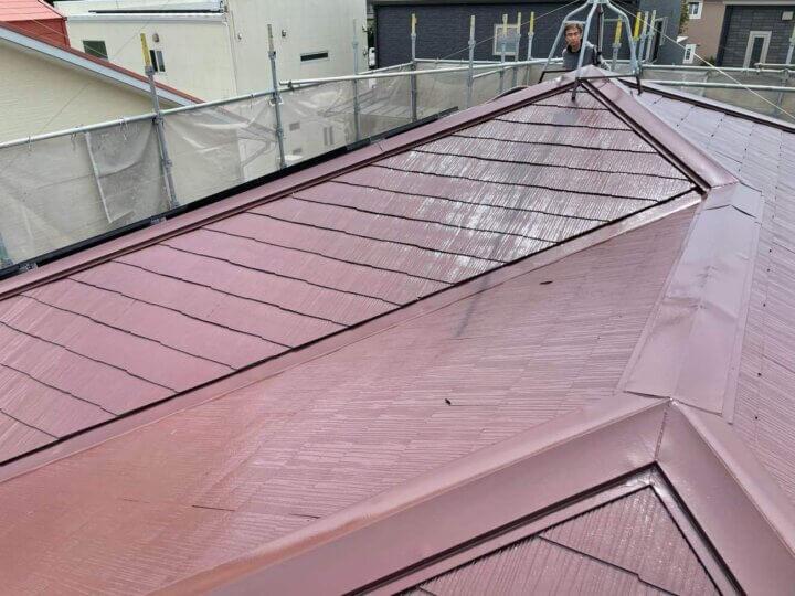 湖西市白須賀 Yさま邸 屋根塗装完成しました。外壁塗装の事なら浜松塗装専門店|加藤塗装