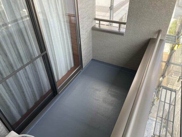 ベランダ床防水工事完成
