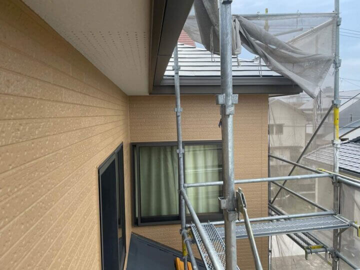 軒天塗装 工事 完成