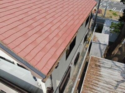 アステックペイント スーパーシャネツサーモsi カラーベスト スレート屋根 コロニアル 外壁塗装の事なら浜松塗装専門店|加藤塗装 雨樋に落ち葉が詰まる