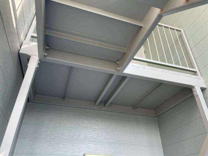 屋外階段 塗装完成