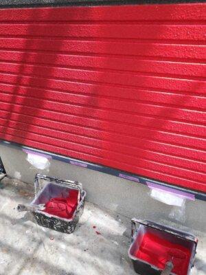 試し塗り トライペイント 赤い外壁 お洒落な住宅 外壁塗装の事なら浜松塗装専門店|加藤塗装