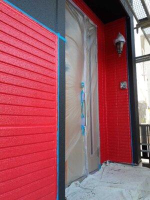 黒と赤 ツートーン外壁 カラー お洒落 男子が喜ぶ かっこいい cool 外壁塗装の事なら浜松塗装専門店|加藤塗装 ALC 塗り替え