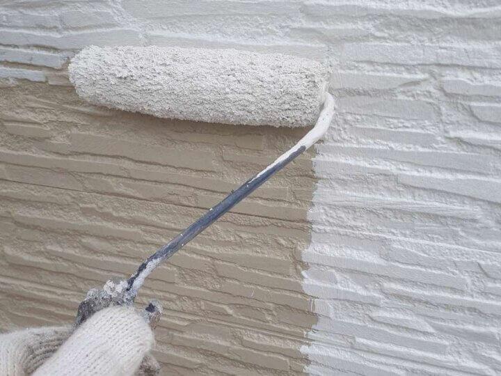 外壁中塗り塗装工事
